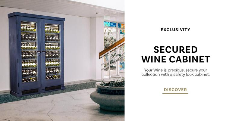 secure wine cabinet